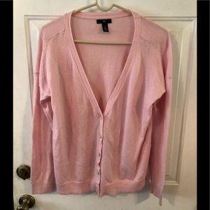 Gap pink lightweight cardigan